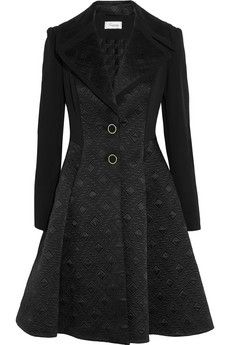 Temperley London Novah quilted satin and crepe coat | NET-A-PORTER
