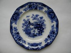 Antique Flow Blue Thomas Fell Plate  Japan by TreasuresFromMaine, $68.00