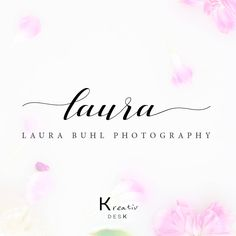 Calligraphy Logo. Signature Logo. Text Logo. Lettering Logo. Wording Logo. Photography Logo. Boutique Logo. Photographer Logo. Photoshop by KreativDesk on Etsy
