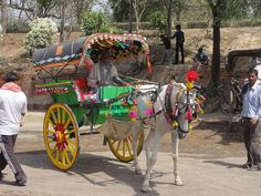 Photo of the Day: Horse Carriage in India | Brightly decorated horse carriage in Agra, #India on March 17, 2012. (Alf Igel/Flickr)