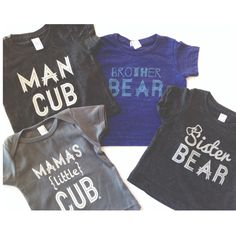 """Bear Collection"" from Loved By Hannah And Eli   www.lovedbyhannahandeli.bigcartel.com  #infant #toddler #graphictees #boyclothes #kidstyle"