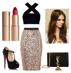 """#81"" by tove-luppiholm ❤ liked on Polyvore featuring ファッション, French Connection, Motel, Christian Louboutin, Yves Saint Laurent, Forever 21 と Charlotte Tilbury"