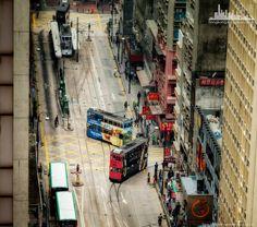 """Двухэтажные городские трамваи, иногда известные в кантонском как """"Ding Ding""""  http://www.ritc.com.hk/"""