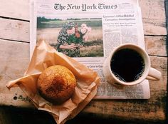 Mornings with coffee & muffin || #morning #blackcoffee #muffin