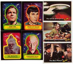 Vintage Topps Star Trek cards