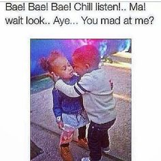 this cracks me up ... just because u be tryna be mad but bae just so fucking cute ... so u cant help but not be mad no more lol
