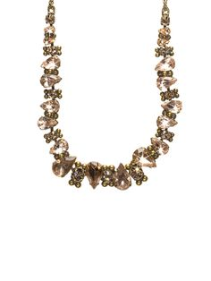 Alternating Crystal Teardrop Necklace in Andalusia by Sorrelli