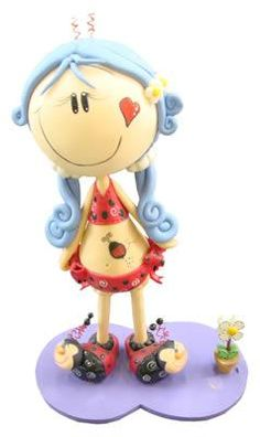 love the hair Homemade Clay Recipe, Biscuit, Clay Food, Pasta Flexible, Salt Dough, Clay Dolls, Foam Crafts, Cold Porcelain, Smurfs