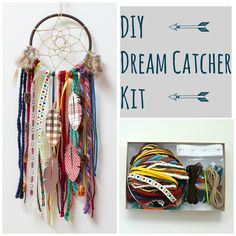 diy Dream Catcher rainbow - Creative Colorful DIY Dream Catcher Craft Kit for Girls or Boys Diy Dream Catcher For Kids, Dream Catcher Kit, Dream Catcher Craft, Diy Crafts For Adults, Art Projects For Adults, Diy For Kids, Craft Kits, Diy Craft Projects, Diy Kits