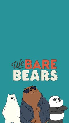 We Bare Bears Wallpapers, Panda Wallpapers, Cute Cartoon Wallpapers, Bear Wallpaper, Kawaii Wallpaper, Osos Cartoon Network, Bff, Bear Sketch, Best Profile Pictures