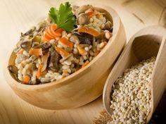 Перловая каша с белыми грибами и овощами