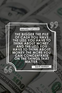 "Money Quotes | You have probably heard or said ""Why save money? I could die tomorrow, so why not just spend it and enjoy it?"" I get the mentality. Why not just spend what you make and enjoy your life in the moment. The above quote from Dave Ramsey is one of the money quotes that can clearly help you to see why it is so important to save up and get yourself a great big pile of cash in the bank 