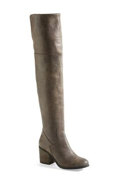 Hinge  'Canton' Over the Knee Boot (Women) at Nordstrom.com. A distressed upper sends a vintage feel through an over-the-knee boot lifted by a chunky block heel. A partial side-zip closure secures the pull-on design.