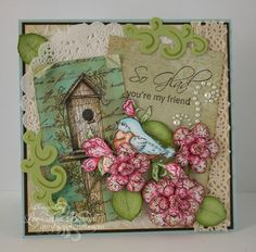Vintage Bird's House/WT434 by whippetgirl - Cards and Paper Crafts at Splitcoaststampers