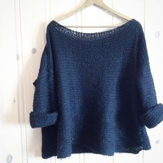 another version of the Snapple sweater. Change the numbers and do it with linen Easy Knitting, Knit Fashion, Knit Crochet, Numbers, Change, Pullover, Sewing, Pattern, Weaving Looms