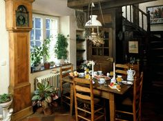 Elegant Country Dining Room Decorating Ideas Picture
