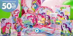 My Little Pony Party Supplies – Click to Watch Video