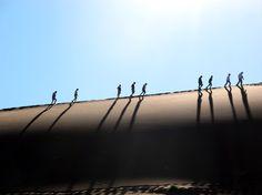 Walking the sand dunes in the Namib Desert, Namibia. Photo by Danielle Nguyen