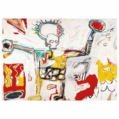 Untitled, 1982 (Skull with Halo) Art Print Poster 5 7/8 x 8 1/4 By: Jean-Michel Basquiat - Join the Pricefalls family - Pricefalls.com Online Marketplace & Stores