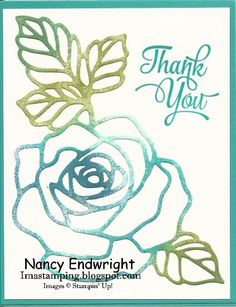 Rose Wonder - Thank You by Imastamping - Cards and Paper Crafts at Splitcoaststampers