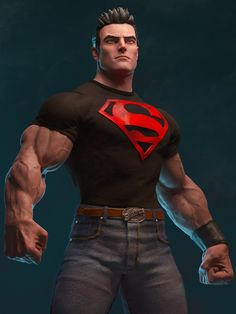 Hello Guys, Here is a Superboy fan art I have sculpted, sculpted in pixologic zbrush rendered in aronald. hope you like it, thanks and regards, Gurjeet. Dc Comics Art, Marvel Dc Comics, Comic Books Art, Comic Art, Comic Character, Character Design, Superman Artwork, 3d Artwork, Superman Wallpaper