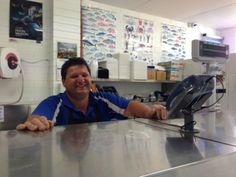 Jan 9: In Swan Hill we are very lucky to have such a great fish shop owned by Steve who re-opened for 2014 today