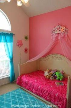 cuarto ninas corona princesas