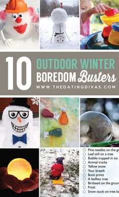 10 Winter Outdoor Boredom Busters- perfect for snow days