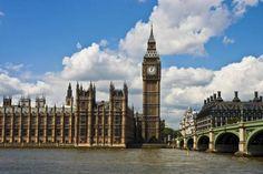 Big Ben, el reloj más famoso y símbolo emblemático de Londres.