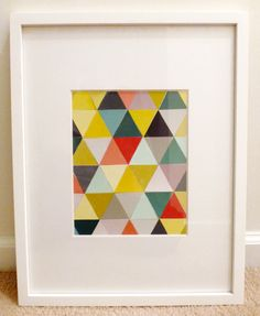 paint swatch triangle art :)