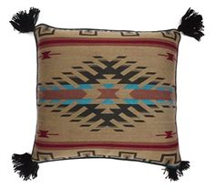 "Southwest Tribal Woven Tan w/ Brown 18"" x 18"" Pillow Cover SB CO http://www.amazon.com/dp/B00LROVESU/ref=cm_sw_r_pi_dp_PrYaub1WB8N76"