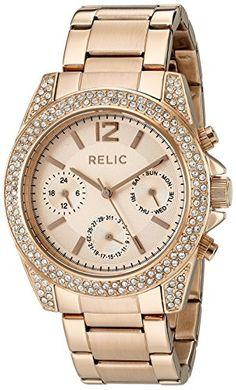 Relic Women's 'Jane' Quartz Stainless Steel Casual Watch (Model: ZR15824). Band width: 19 mm. Case diameter: 39 mm. Analog-quartz Movement. Case Diameter: 39mm. Water Resistant To 165 Feet.