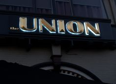 Union Bar Gilded Letters Inverell