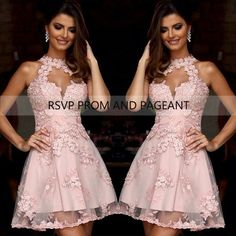 Find More Prom Dresses Information about Lovely Sheer High Neck Prom Dresses 2015 Beaded Applique Mini Light Pink Short Prom Dress,High Quality dress penny,China dress s Suppliers, Cheap dress up games dog from Rsvp Prom and Pageant Trading Company on Aliexpress.com