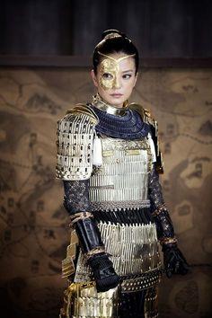armor, asian, and medieval image Geisha, Female Armor, Female Knight, Lady Knight, Warrior Girl, Warrior Princess, Moda China, Prince Charmant, Fantasy Armor