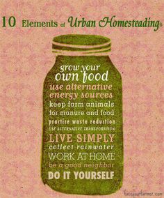 10 elements of urban homesteading