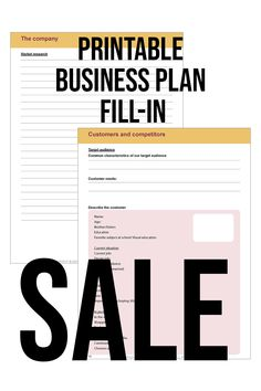 #SALE #Make your #company an #instant #succes just like i did So when you go to the #bank you will have a full plan to #show them you are #serious and #deserve to get that #loan. And you will then get that loan and make your #business #ideas and #dreams into a #reality. This #printable #business #plan #helps you to #think of #everything. You just have to #fill in the #blanks. It will ask you about your #competitors, #prices, #market, your #own #company and many more things. #print… Starting A Business, Business Planning, Business Ideas, Current Job, Favorite Subject, How To Get, How To Plan, Target Audience, Organization Hacks