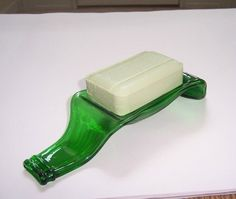 soap dish from beer bottle@Tena Coker--know anyone with a kiln?