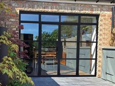 Look at this essential pic as well as look into today critical information on french doors exterior Aluminium French Doors, Aluminium Windows, Steel Doors And Windows, Residential Windows, Crittall, Balcony Doors, French Windows, Glass Partition, Door Design