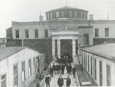 Pictured here: Castle Garden, serving as a 'bridge' to America, now known as Castle Clinton. It was the Immigration Station in NYC where immigrants came through for their entry into America. From the years c.1855 to  the first couple years of the 1890s. Then immigrant entry was handled at Ellis Island, in the years following c.1892 to c.1954. {cwl}