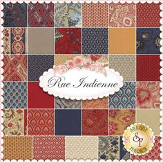 Rue Indienne By French General For Moda Fabrics - Charm Pack: Rue Indienne by French General for Moda Fabrics. 100% Cotton. This charm pack contains 42 squares, each measuring 5