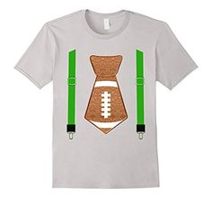 Limited Edition Boys Football Tie and Suspenders T Shirt For The 🏈 Season