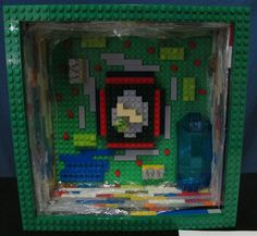 Plant cell made from Lego blocks, 2014.