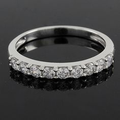 0.90ct D/VVS1 Round Cut Lab Diamond Engagement Wedding Band Ring G926 #AffinityJewelry