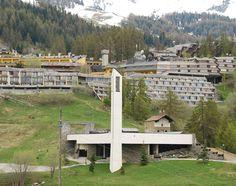 La chiesa di S. Lorenzo a Pila, Val d'Aosta. #tettiverdi #nonsprecare #valdaosta