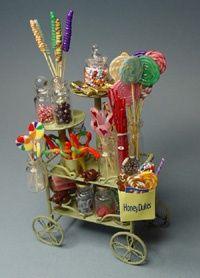 miniature candy carts   candy cart