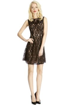 Black High Neck Lace Dress | Oasis