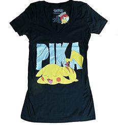 3ee2edd0fd Bioworld Pokemon Pikachu Juniors Black V-Neck T-Shirt-medium – Pokemon  Tshirt for Men