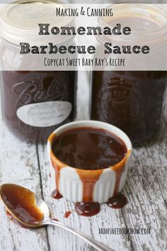 Get ready for warm weather by whipping up a batch of this homemade barbecue sauce recipe - it's about as close to a copycat Sweet Baby Ray's recipe as I can find!