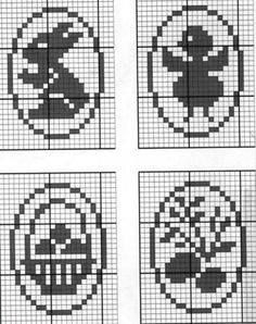 Cross Stitch Cards, Cross Stitch Embroidery, Embroidery Patterns, Cross Stitch Patterns, Filet Crochet, Crochet Motif, Crochet Doilies, Tapestry Crochet Patterns, Easter Cross